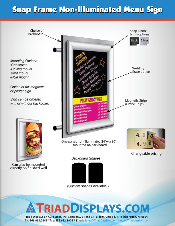 NEW Value Magnetic Menu Boards