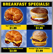 Menu Board breakfast