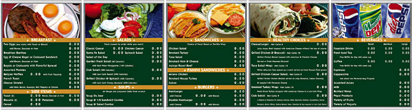 Stainless Steel Magnetic Menu Boards Green Wrap