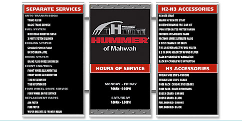 Stainless Steel Magnetic Menu Boards Hummer