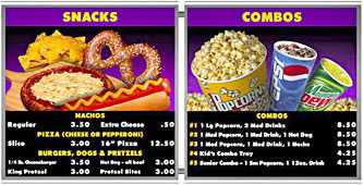 Stainless Steel Magnetic Menu Boards  Purple Snacks