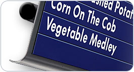 Stainless Steel Magnetic Menu Boards